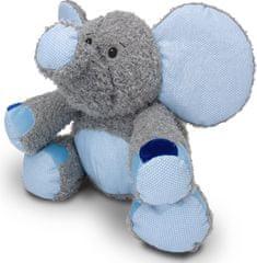 MÚ BRNO Slon Valda 45cm, šedo-modrý