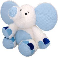 MÚ BRNO Slon Valda 45cm, bielo-modrý
