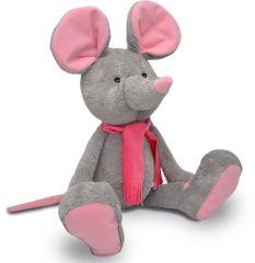 MÚ Brno Myška Alfi 65cm, šedo-růžová
