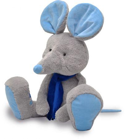MÚ BRNO Myszka Alfi 65 cm, szaro - niebieska