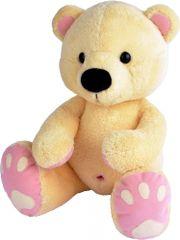 MÚ BRNO Medveď Pupík 60cm, béžovo-ružový