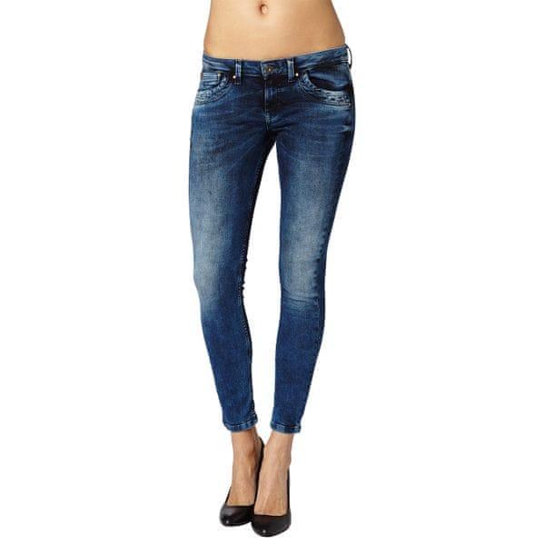 Pepe Jeans dámské slim jeansy Ripple 30/28 modrá