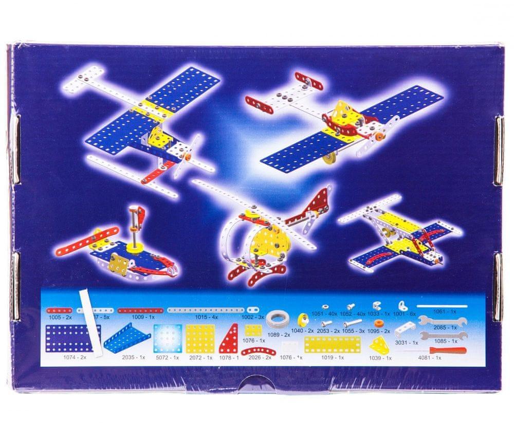 Merkur Stavebnice 014 Letadlo 10 modelů 141ks