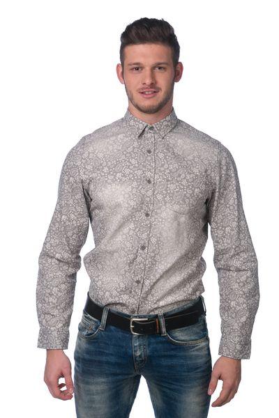 Brave Soul pánská košile Orsini M šedá