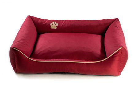 Argi pasja postelja, rdeča, S