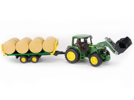 Bruder traktor John Deere s prikolico 01634
