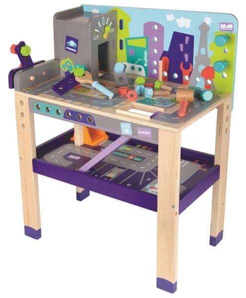 BOIKIDO Pracovní stůl 2 v 1 - jezdi a buduj