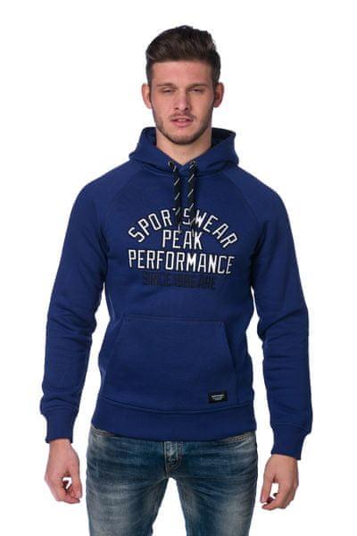 Peak Performance pánská mikina s kapucí M modrá