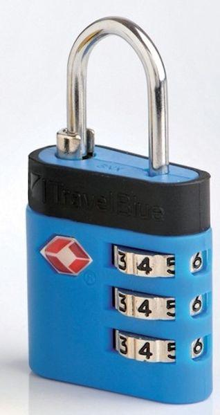 REAbags Bezpečnostní TSA kódový zámek na zavazadla modrý