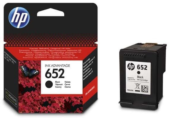 HP náplň č.652, černá (F6V25AE)