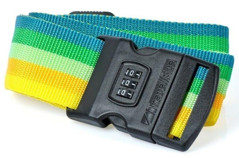REAbags Bezpečnostní popruh na kufr s kódovým zámkem zelený