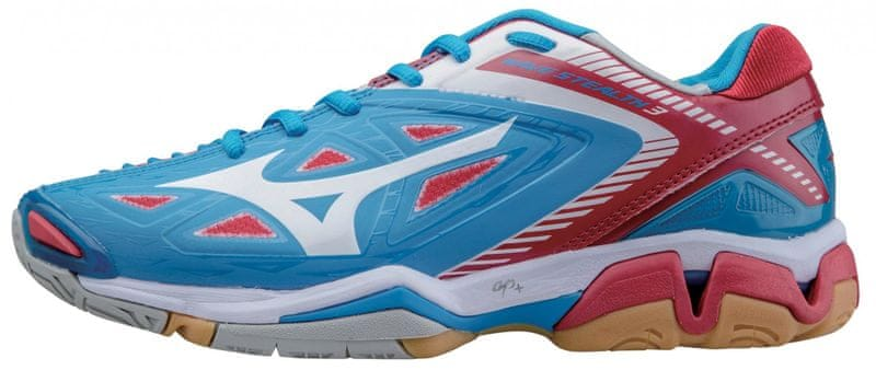 Mizuno Wave Stealth 3 W DivaBlue/White/ChineseRed 7,5 (41,0)