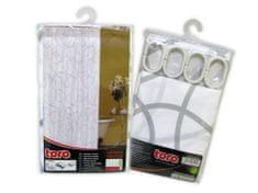 Toro Sprchový závěs 180X180CM, bílá s šedou a