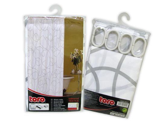 TORO Zasłona prysznicowa 180 x 180 cm, biała