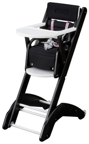 Candide Jídelní židlička Combelle 2v1 EVO, černo-bílá