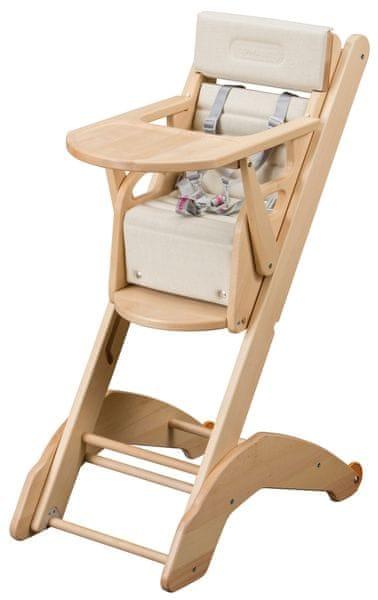 Candide Jídelní židlička Combelle 2v1 EVO, natural