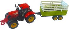 Mac Toys Traktor s valníkem červený