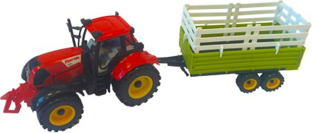 Mac Toys Traktor s prívesom červený