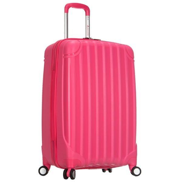 REAbags Cestovní kufr AEROLITE T-665/3-70 PP růžová