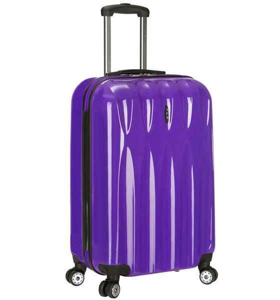 AZURE Cestovní kufr ICE T-1063/3-50 PC fialová