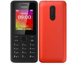 Nokia telefon komórkowy 108 DS, czerwony