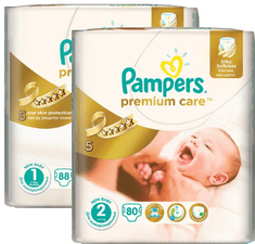 Pampers pleničke Premium Care velikosti 1 in 2, 168 kosov