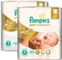 1 - Pampers Pleny Premium Care Velikost 1 + Velikost 2 - 168 ks