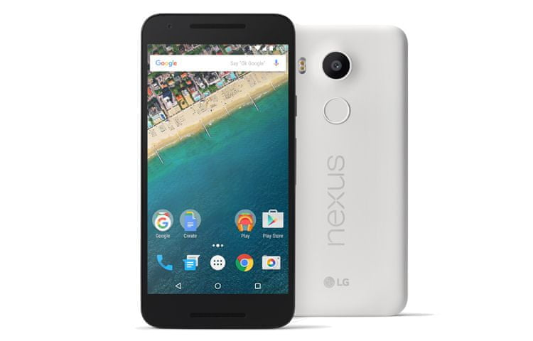LG Nexus 5X, 32 GB, bílý