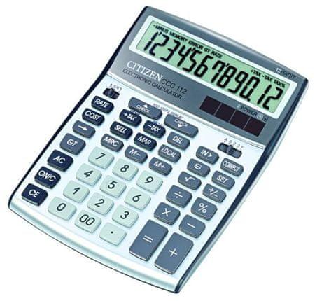 Citizen kalkulator CCC-112WB, srebrn