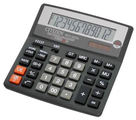Citizen kalkulator SDC-620II, črn