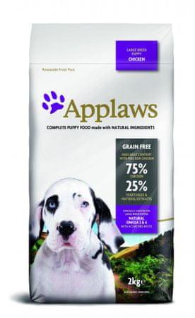 Applaws hrana za pasje mladičke velikih pasem, piščanec, 2 kg