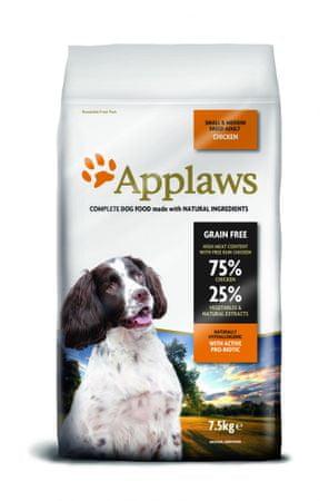 Applaws hrana za odrasle pse majhnih in srednih pasem, piščanec, 7,5 kg