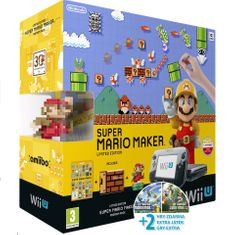 Nintendo WiiU premium pack + 3 hry + amiibo