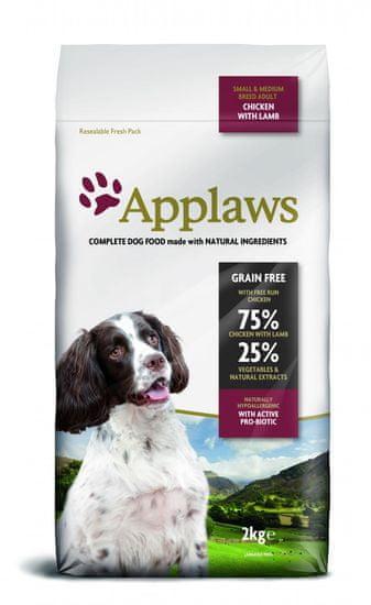 Applaws Dog Adult Sm&Med Breed Chicken & Lamb kutyatáp - 2kg