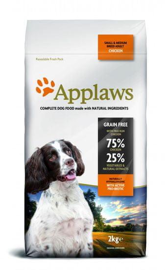 Applaws Dog Adult Small & Medium Breed Chicken hrana za pse, 2 kg