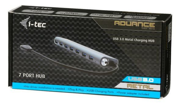 I-TEC USB 3.0 Metal Charging HUB 7 Port