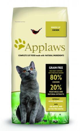 Applaws hrana za starejše mačke, piščanec, 2 kg