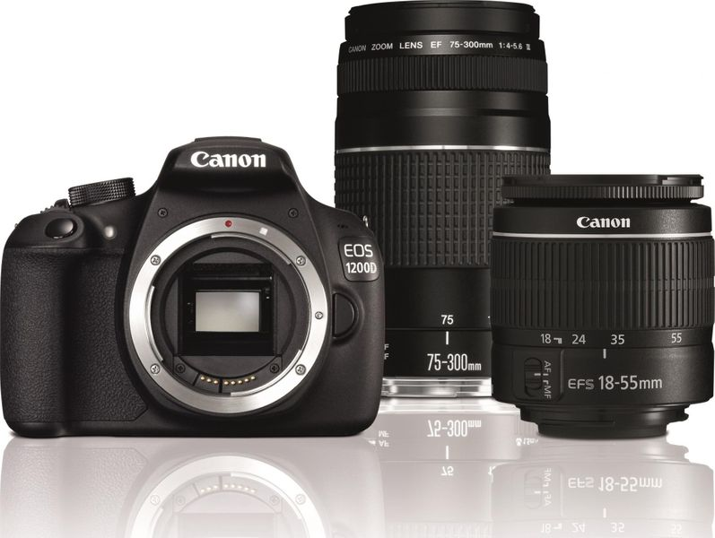 Canon EOS 1200D + 18-55 DC III + 75-300 DC III