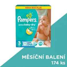 Pampers Active Baby plenky vel.3 (174ks)