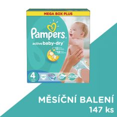 Pampers Active Baby MegaBox Plus 4 Maxi - 147 ks