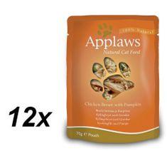 Applaws Macskaeledel, 12x70g, Csirke-Sütőtök