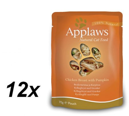 Applaws saszetki dla kota Chicken & Pumpkin 12x70g