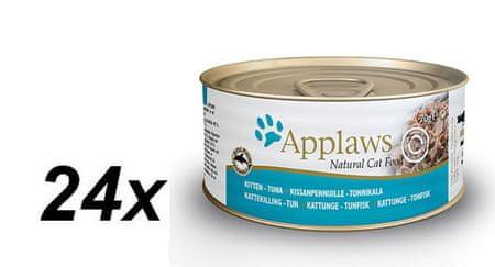 Applaws mokra hrana za mačje mladiče, 24 x 70 g