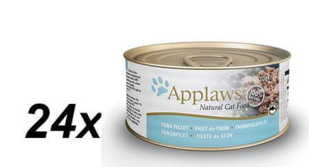 Applaws mokra karma dla kota Tuna Fillet 24x70g