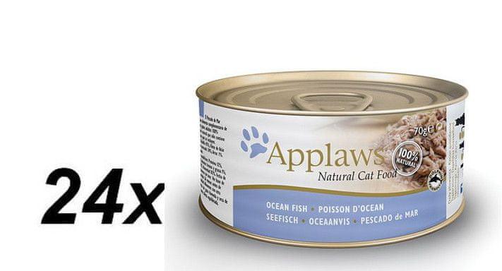 Applaws Konzerva Cat - mořské ryby 24 x 70g