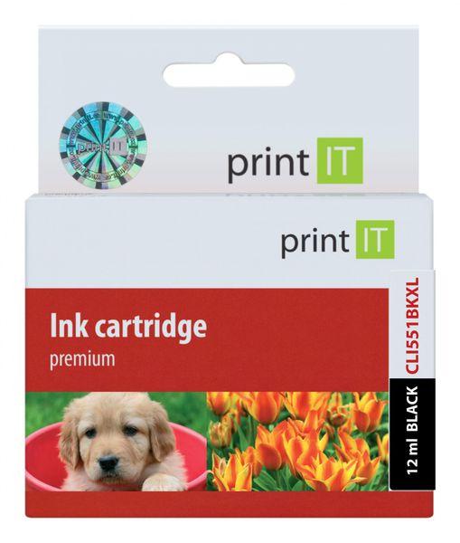 Print IT náhrada za Canon CLI-551 XL Black (PI-633)