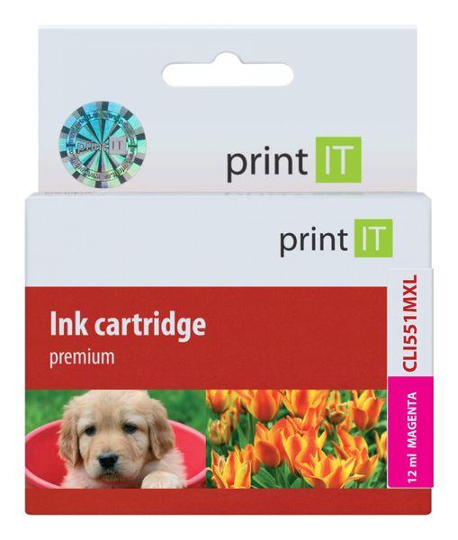 Print IT náhrada za Canon CLI-551 XL Magenta (PI-635)