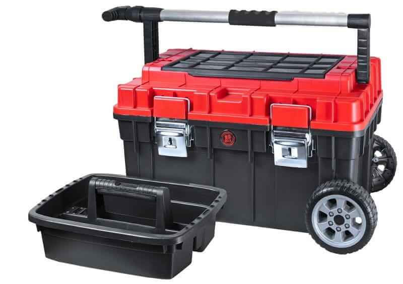 PATROL Kufr na nářadí s kolečky HD Trophy 2 červený / černý