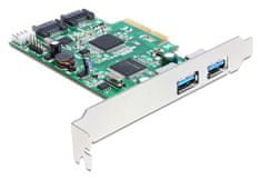 Delock kartica PCI Express USB 3.0 2xA + 2x SATA3