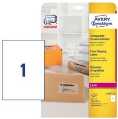 Avery Zweckform etikete L7567-25, 210 x 297 mm, prozorne, 25 listov